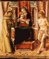 The Virgin and Child with Saints Francis and Sebastian  (1491)